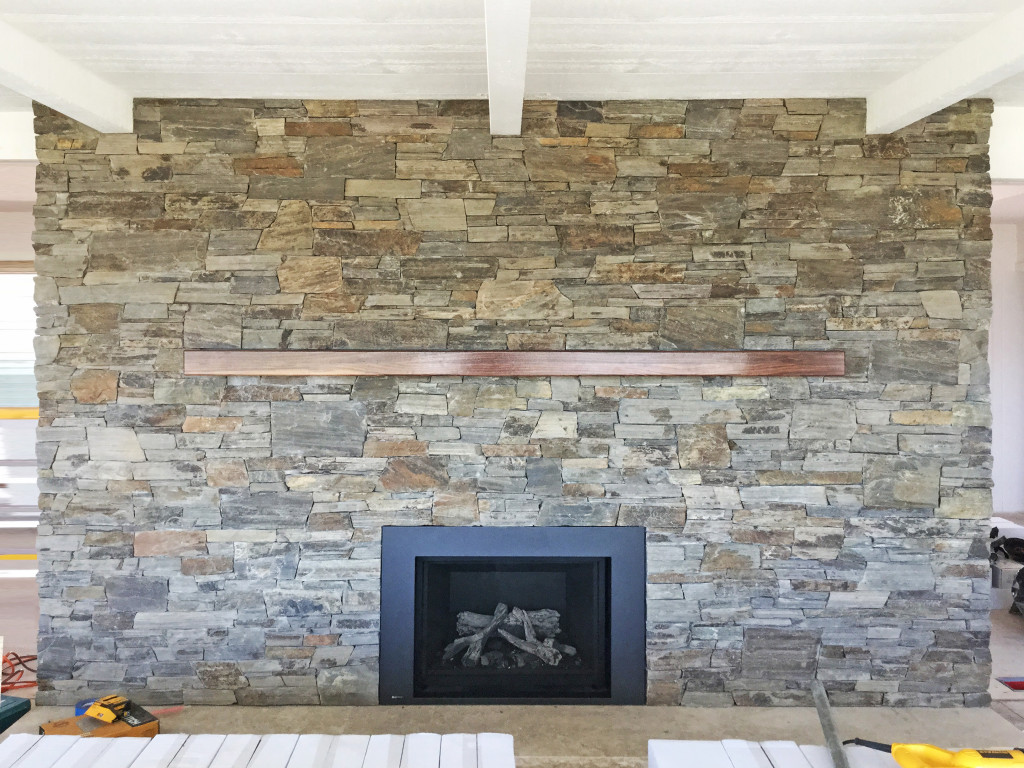 Custom Marbella Stone Fireplace
